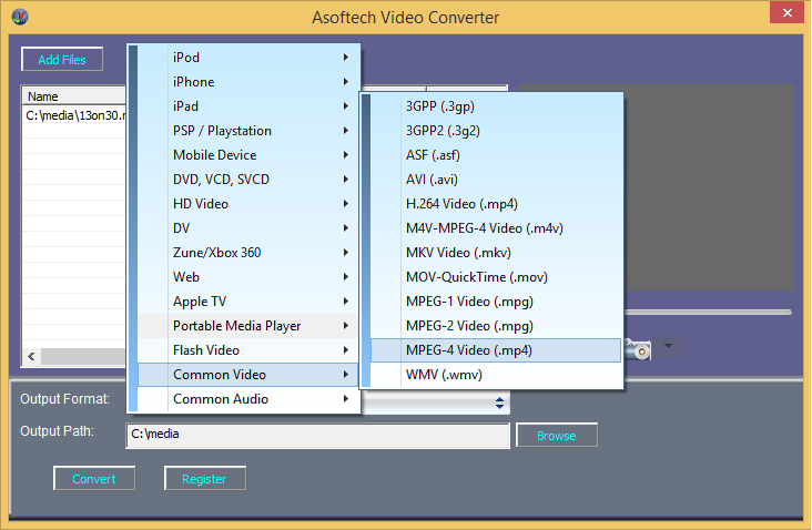 Convert AVI video for Mac