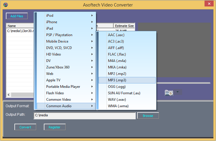 AVI to mp3 converter