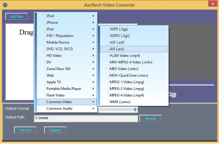 convert video to avi