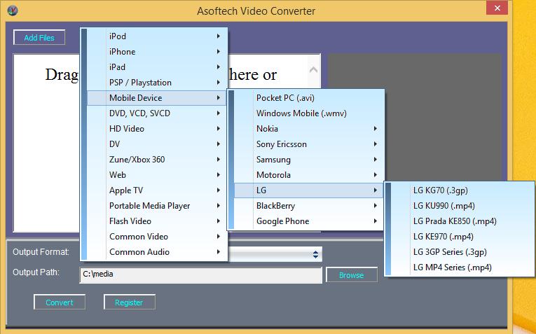 LG video converter