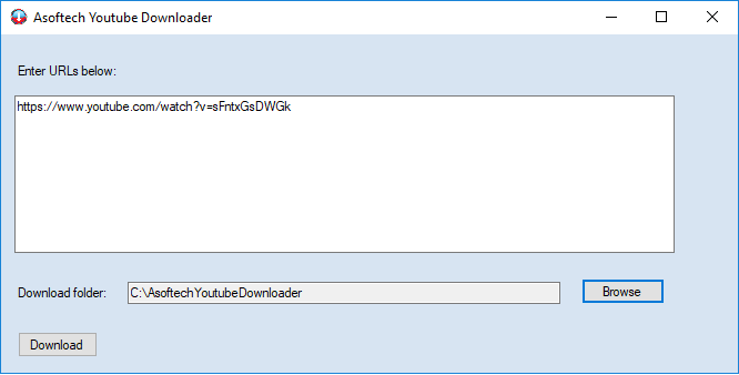Asoftech Youtube Downloader 1.6